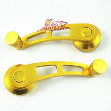2 GOLD BILLET ALUMINUM WINDOW CRANK HANDLE WINDER FOR CAR/TRUCK PICKUP DOOR