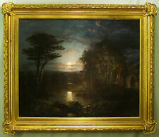Jeremy  Wilson ( American 1824 -1899 ) original  oil  painting signed dated 1859