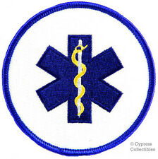PARAMEDIC ROUND embroidered PATCH Star of Life Ambulance EMT/EMS iron-on