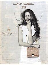 PUBLICITE ADVERTISING 2011  LANCEL sac  CRAZY daligramme crée par DALI pour GALA