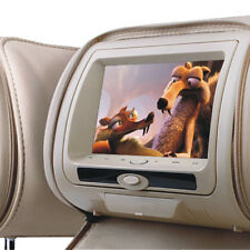 "Universal 7"" Beige Leather-Style Car DVD Headrests with SD/USB/FM Audi/BMW/Ford"