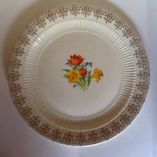 Vintage American Homes Dinnerware 22 K Gold Trim Round Serving Platter