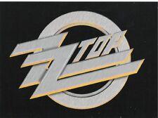 ZZ TOP logo VINYL STICKER official ex-tour merchandise POSTCARD SIZE