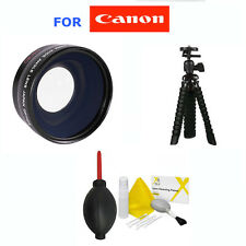 58mm WIDE ANGLE LENS + TRIPOD+GIFTS FOR CANON EOS REBEL T1I T2I T3I T4I T5I 20D