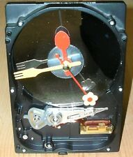 One of a Kind Harddrive-Clock. Handmade by using recycled computer hard drive
