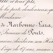 Octavie Hélène Narbonne-Lara La Chataigneraye De Ponts 1872