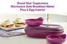 Tupperware Microwave Breakfast Maker plus Two Egg Inserts Purple New