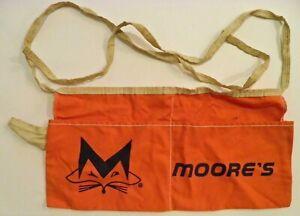 Vintage Moore's Nail Pouch/Apron (2 Pouches w/Hammer Loop) (Orange w/Fox Logo)