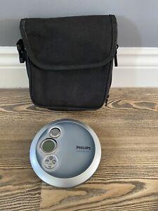 Philips AX2400/02 Portable Compact Disc CD Player 45 Seconds ESP Discman + Case
