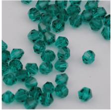 100pcs swarovski Crystal 4mm 5301# Bicone Beads Peacock Green