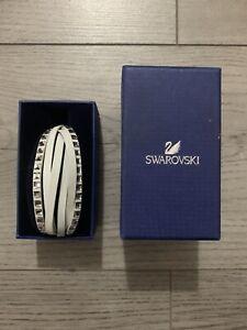 BNIB Swarovski White Crystal And Leather Bracelet