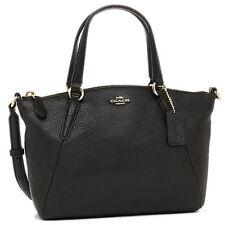 NWT Coach New $250 Mini Kelsey Satchel Crossbody In Black Pebble Leather F57563