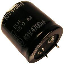 Condensador Kemet teme Elko 4700uf 63v 30x30mm 2 pin SNAP-en 85 ° C rm10 854366