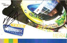 2004 VITOR MEIRA signed INDIANAPOLIS 500 HERO PHOTO CARD INDY CAR HONDA RACING b
