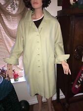 Beautiful Vintage 1960's Light Weight Wool Coat! Think Spring! Sz. L Mint Green
