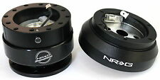 NRG Steering Wheel Short Hub Adapter Quick Release BK For Nissan 240SX 300ZX