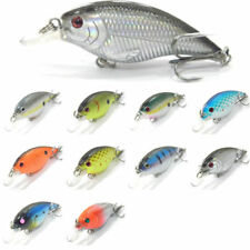 5PCS Fishing Floating Lure Crank Crankbait Minnow artificial bait 7.5cm/9.5g