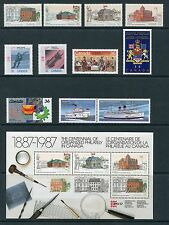 Canada 1987 Complete Commemorative Year Set NH - Scott 1122-1154, 37 Stamps