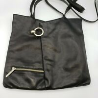 Vintage Renato Angi Venezia Black Italian Italy Leather Shoulder Tote Purse Bag