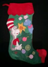 """Dr Seuss Cat in the Hat felt Christmas Stocking 1997 Midwest of Cannon Falls 16"""""""