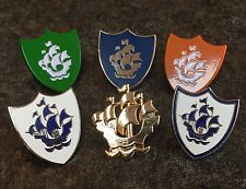 COMPLETE SET OF 6 BLUE PETER ENAMEL PIN BADGES | BBC KIDS CHILDREN TV NOVELTY