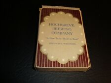 Circa 1930s Hochgreve Playing Card Box, Green Bay, Wisconsin – Brown Deck