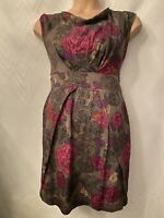 Great Plains Brown Floral Dress Pink Purple Size 12 Medium Summer Holiday Party