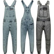 Men's Denim Dungarees Acid Wash Blue & Acid Wash Black Jeans  Pant Play Suit