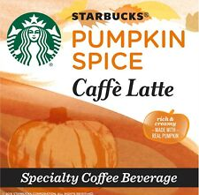 Starbucks Pumpkin Spice Caffe Latte Single-Cup Coffee for Keurig Brewers (2 box)