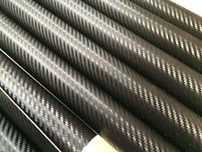 3 x CARBON FIBER Black Vinyl Sheet Sticker  200mm x 100mm
