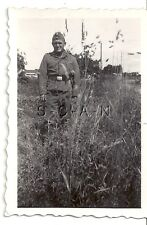 WWII German RP- Luftwaffe- Uniform- Overseas Hat- Stands in Tall Grass- France