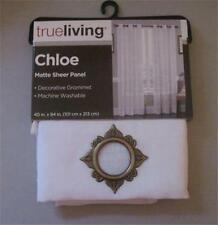 "NEW TRUE LIVING CHLOE MATTE SHEER WINDOW PANEL 40""X 84"" W GROMMET 100% POLY."