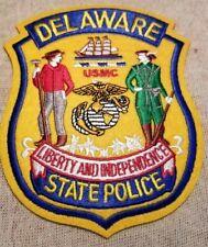 DE Delaware State Police USMC Marines Patch