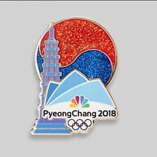 NBC PyeongChang 2018 Olympic Pin Badge Media PAGODA ( Pyeong Chang )