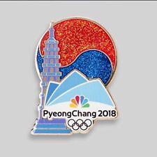 NBC PyeongChang 2018 Olympic Pin Badge Media PAGODA  ( Pyeong Chang )