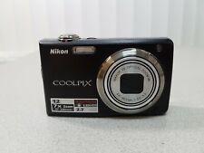 Nikon S630 CoolPix 7x Zoom 12MP Digital Camera Black Used Tested Working