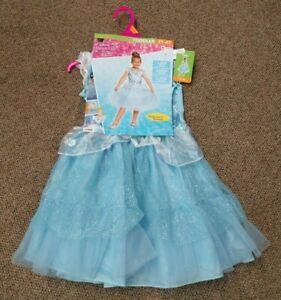 NEW TODDLER GIRLS DISNEY PRINCESS CINDERELLA HALLOWEEN COSTUME DRESS UP PLAY 3-4