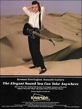 Dweezil Zappa 1988 Kramer Ferrington A/E Guitar ad 8 x 11 advertisement print