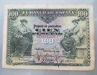 BILLETE 100 PESETAS 1906 SERIE B MADRID