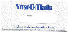 2011 Strat-O-Matic Football Season Product Code SOM