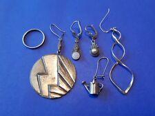 Konvolut Silber Ohrringe hänger und ring