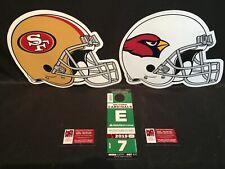 Arizona Cardinals vs San Francisco 49ers 10/31 Green E East Lot Parking Pass Tix