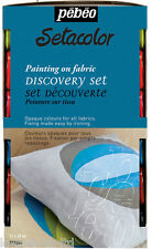 PEBEO SETACOLOR OPAQUE FABRIC PAINT 12X20ml DISCOVERY SET TEXTILE COTTON