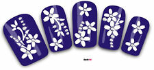 Nail Art Decals Transfer Stickers 3D Flowers Decorative Rhinestones (3D008)