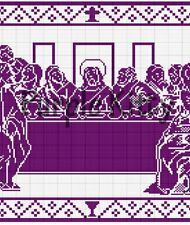 The Last Supper Filet Crochet Pattern - Vintage Mail Order #CC1