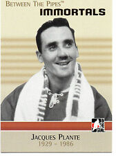 Jacques Plante 06/07 ITG Between the Pipes Immortals #128