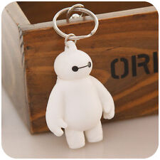 Soft Belly Belt Cute Head Movable Big Hero 6 Baymax Key Rings Chains Toy Gift SI