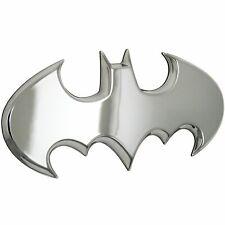Batman Silver Chrome Car Emblem Batwing 3d Dc Comics Automotive Sticker Badge