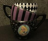 DISNEY Alice In Wonderland Tea/Coffee Triple Stacked Cup. VERY CUTE! Brand New!