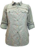 EX EVANS BLOSSOM GREEN PURE COTTON SHIRT/BLOUSE SIZE 14-30 ONLY  FREE P&P